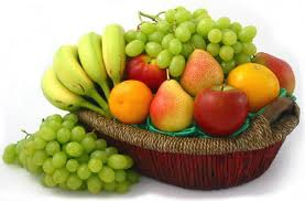 Fresh fruits in a decorated basket